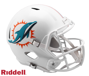 MIAMI DOLPHINS CURRENT STYLE SPEED REPLICA HELMET