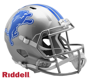 DETROIT LIONS CURRENT STYLE SPEED REPLICA HELMET