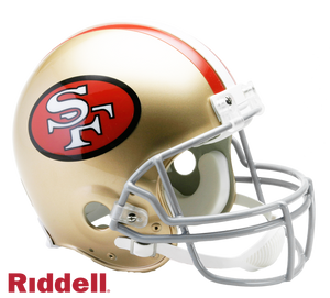 SAN FRANCISCO 49ERS 1964-95 THROWBACK VSR4 AUTHENTIC HELMET