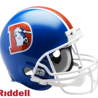 DENVER BRONCOS 1975-96 THROWBACK VSR4 AUTHENTIC HELMET
