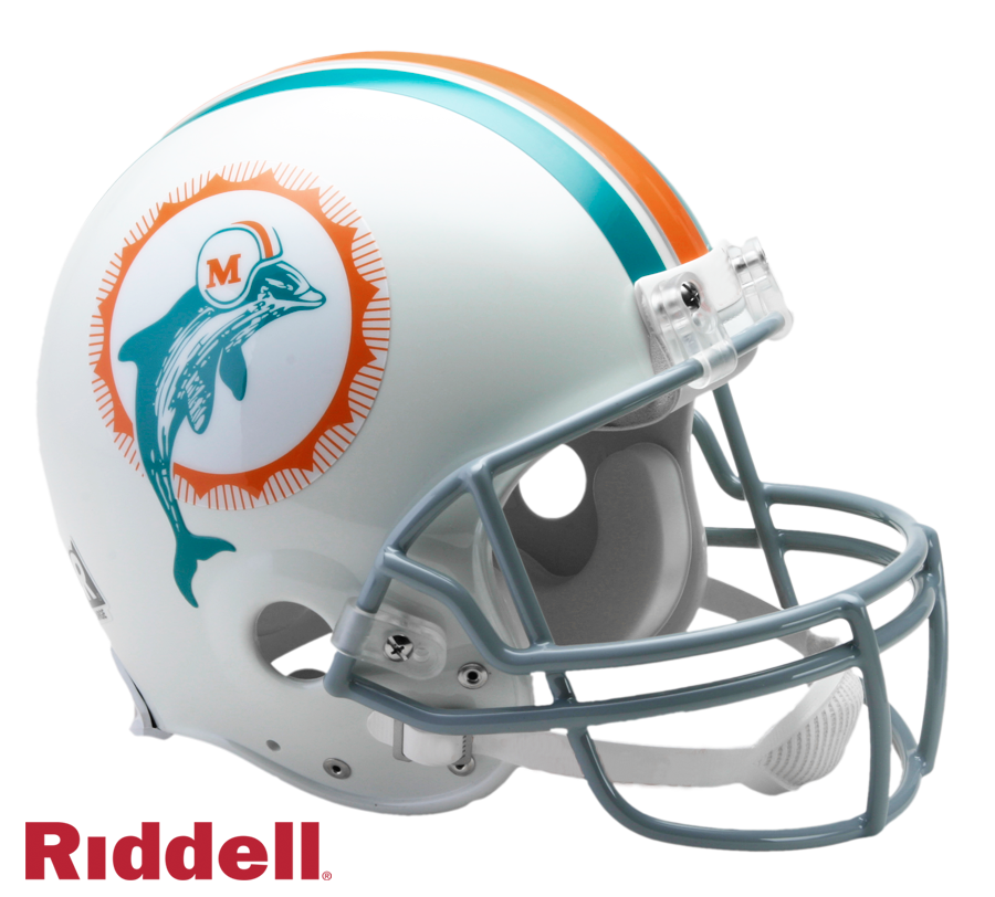 MIAMI DOLPHINS 1972 THROWBACK VSR4 AUTHENTIC HELMET