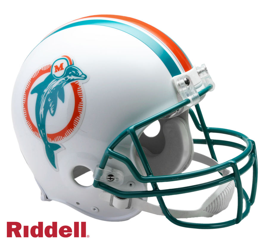 MIAMI DOLPHINS 1980-96 THROWBACK VSR4 AUTHENTIC HELMET