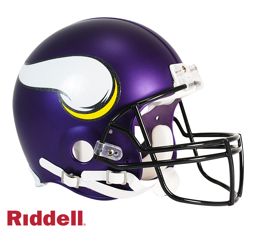 MINNESOTA VIKINGS CURRENT STYLE VSR4 AUTHENTIC HELMET