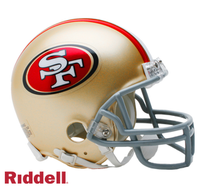 SAN FRANCISCO 49ERS CURRENT STYLE VSR4 MINI HELMET