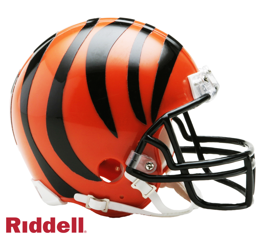 CINCINNATI BENGALS CURRENT STYLE VSR4 MINI HELMET
