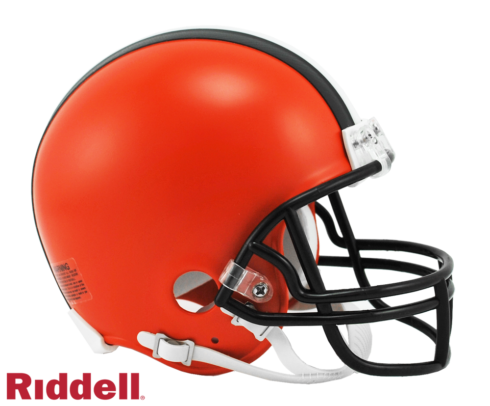 CLEVELAND BROWNS CURRENT STYLE VSR4 MINI HELMET