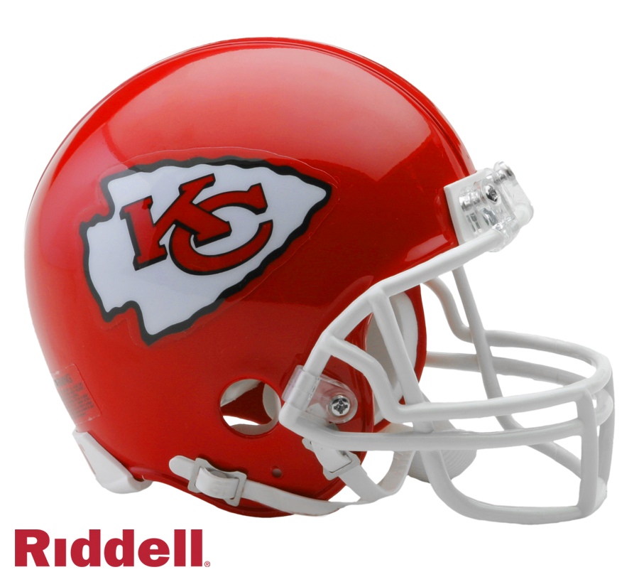KANSAS CITY CHIEFS CURRENT STYLE VSR4 MINI HELMET