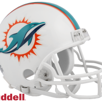 MIAMI DOLPHINS CURRENT STYLE VSR4 MINI HELMET