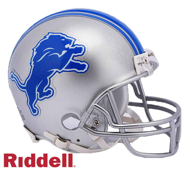 DETROIT LIONS CURRENT STYLE VSR4 MINI HELMET