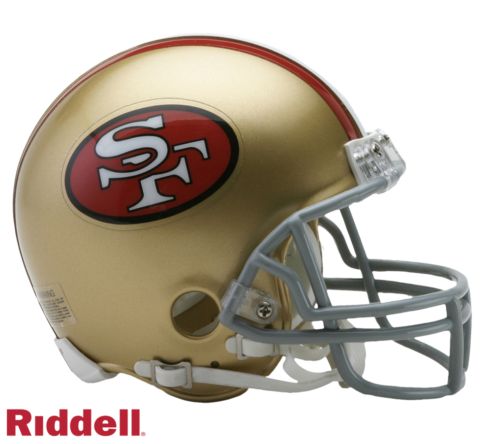 SAN FRANCISCO 49ERS 1964-95 THROWBACK VSR4 MINI HELMET