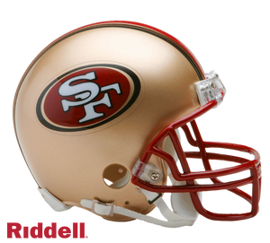 SAN FRANCISCO 49ERS 1996-08 THROWBACK VSR4 MINI HELMET