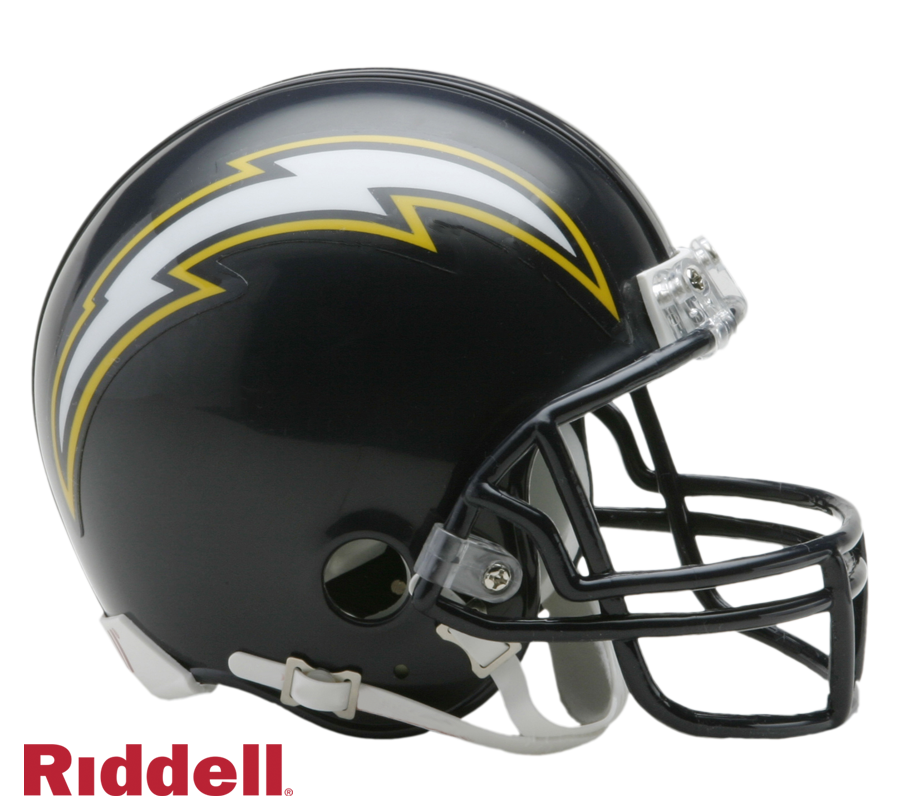 SAN DIEGO CHARGERS 1988-06 THROWBACK VSR4 MINI HELMET