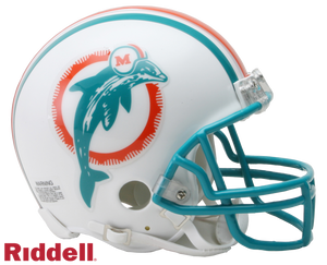 MIAMI DOLPHINS 1980-96 THROWBACK VSR4 MINI HELMET