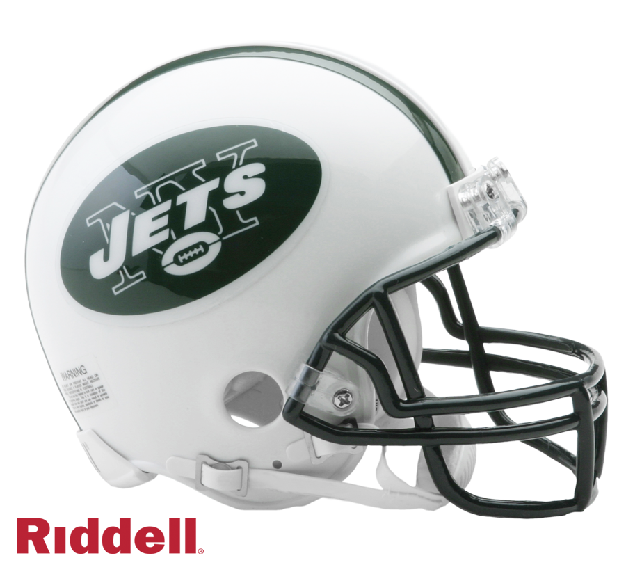 NEW YORK JETS 1998-18 THROWBACK VSR4 MINI HELMET