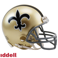 NEW ORLEANS SAINTS 1967-75 THROWBACK VSR4 MINI HELMET