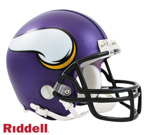 MINNESOTA VIKINGS CURRENT STYLE VSR4 MINI HELMET