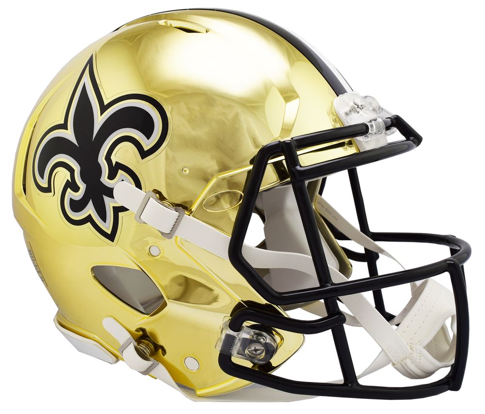 NEW ORLEANS SAINTS CHROME SPEED AUTHENTIC HELMET