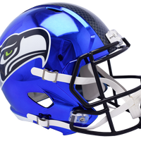 SEATTLE SEAHAWKS CHROME SPEED REPLICA HELMET