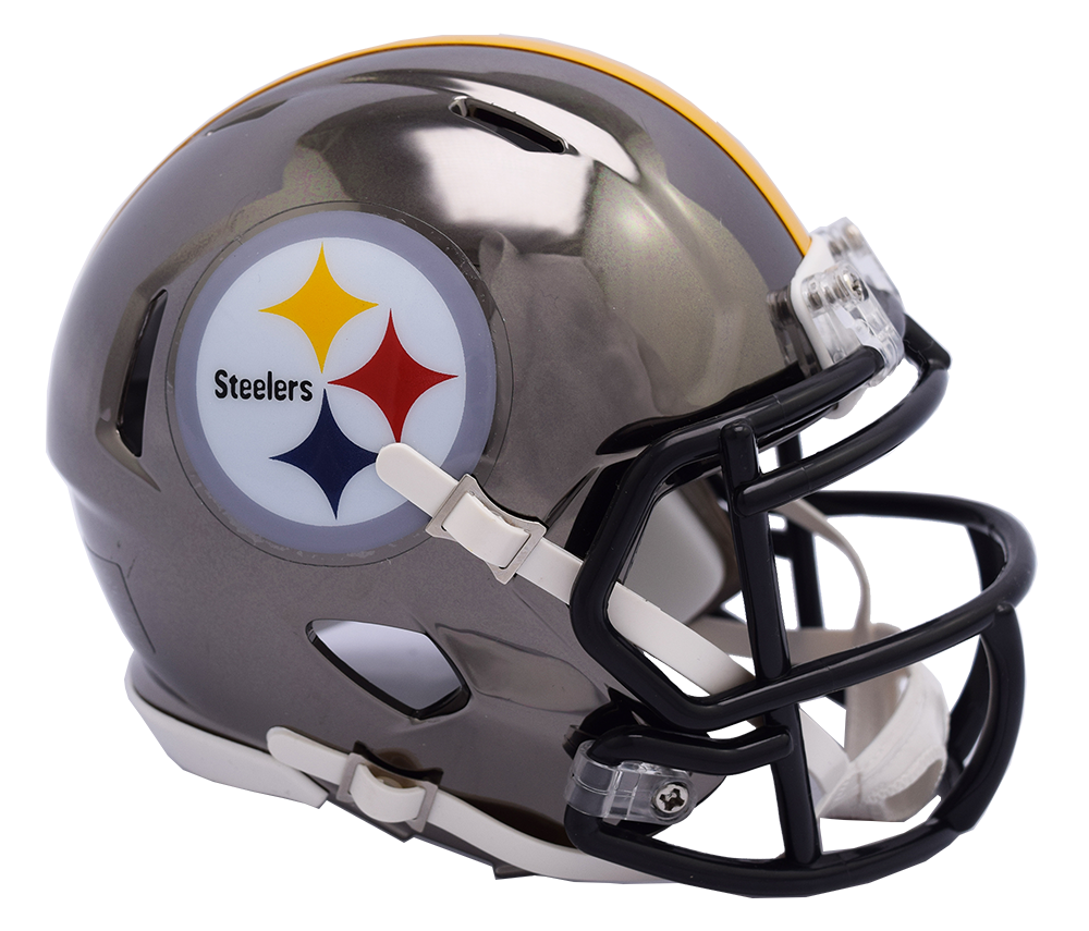PITTSBURGH STEELERS CHROME SPEED MINI HELMET