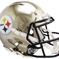 PITTSBURGH STEELERS CHROME SPEED AUTHENTIC HELMET