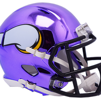 MINNESOTA VIKINGS CHROME SPEED MINI HELMET