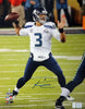 Russell Wilson Autographed 16x20 Photo Seattle Seahawks Super Bowl RW Holo Stock #88005