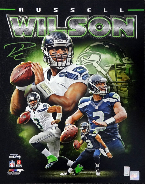 Russell Wilson Autographed 16x20 Photo Seattle Seahawks RW Holo Stock #88011