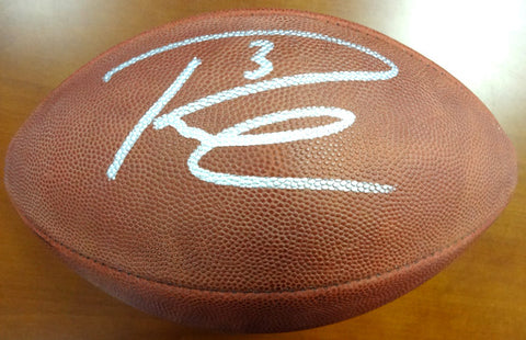 Russell Wilson Autographed NFL Leather Football RW Holo #71412