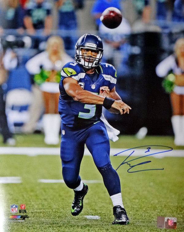 Russell Wilson Autographed 16x20 Photo Seattle Seahawks RW Holo Stock #95139