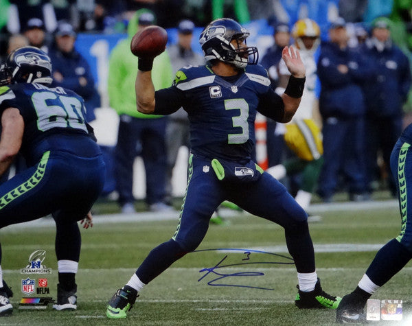 Russell Wilson Autographed 16x20 Photo Seattle Seahawks RW Holo Stock #95142