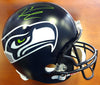 Russell Wilson Autographed Seattle Seahawks Full Size Helmet Signed in Green RW Holo