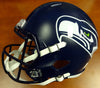 Russell Wilson Autographed Seattle Seahawks Full Size Speed Replica Helmet in Green RW Holo Stock #94105