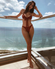 Load image into Gallery viewer, EMANUEL BRICK TWO PIECE SWIMSUIT