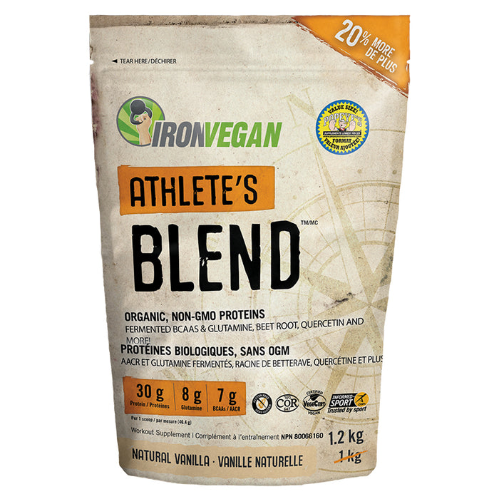Iron Vegan Athlete's Blend 1.2kg (26 Servings)