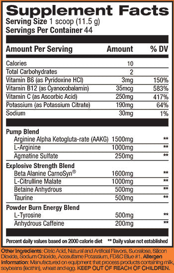 Rivalus Powder Burn 2.0 506g (44 Servings)
