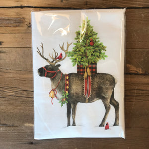 Christmas Reindeer with Tree