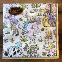 Load image into Gallery viewer, Alice in Wonderland Paper Napkins