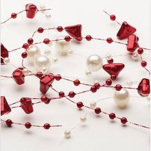Load image into Gallery viewer, Burgundy Pearl Bead Garland