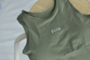 UNWAVERED SPORTS BRA - FOREST GREEN