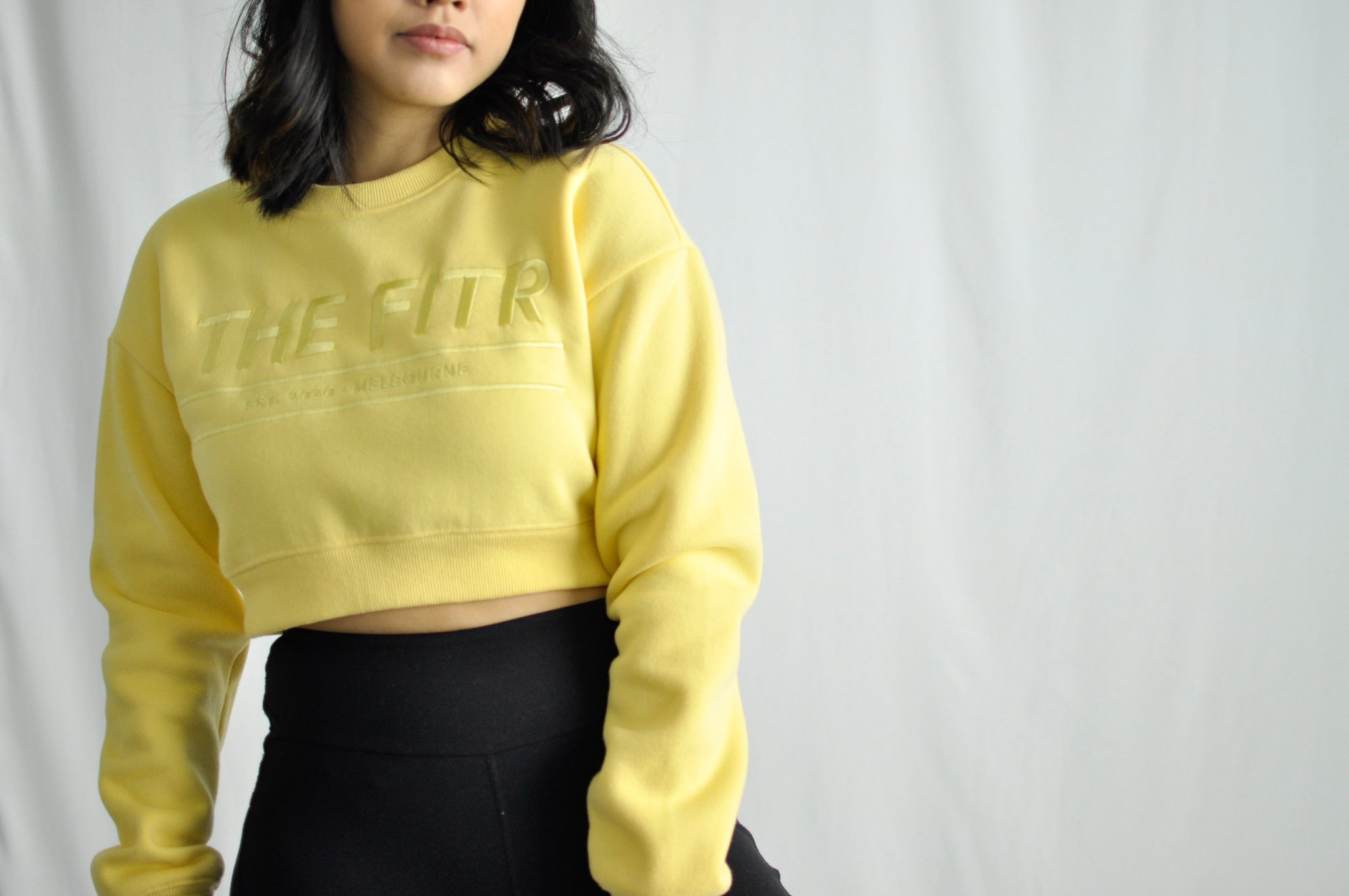 SEASON SWEATER - CROPPED LENGTH - SUN YELLOW