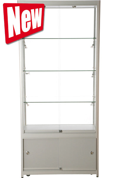 Vitrine Tower Duo mit Schrank inkl. LED