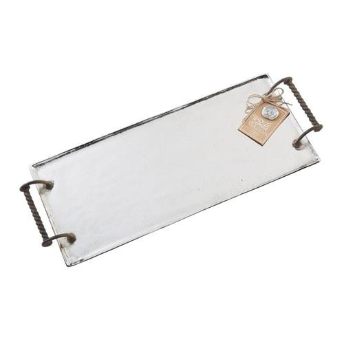 Twisted Handle Metal Tray by Mud Pie