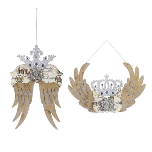 Winged Crown Glitter Ornaments by Demdaco
