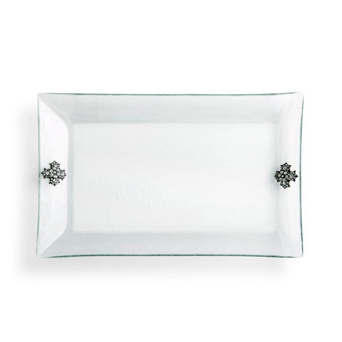 Embellished Glass Platter by Demdaco
