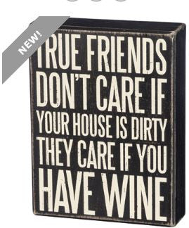 True Friends Box Sign By Primitives By Kathy