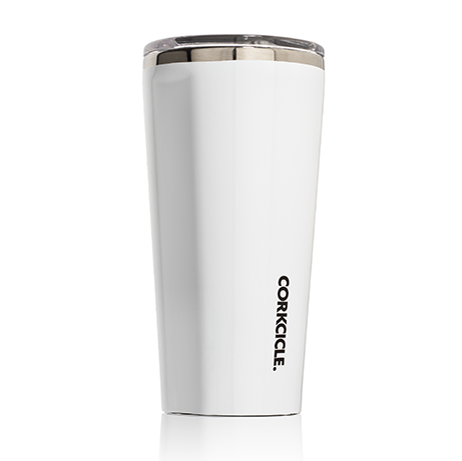 Gloss White Tumbler 16 oz. by Corkcicle