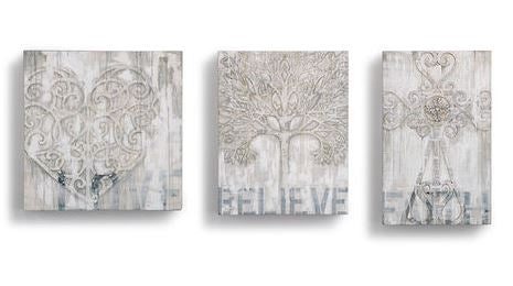 Love Believe Faith Wall  Art By Demdaco