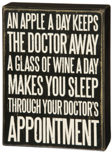 Apple A Day Box Sign by Primatives By Kathy