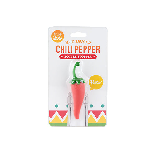 Hot Sauced Chili Pepper Bottle Stopper By True Zoo