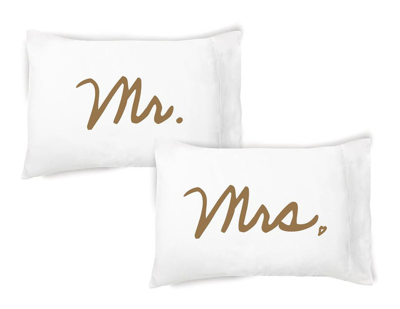 Mr. / Mrs. Pillow Case Set by FacePlant Dreams